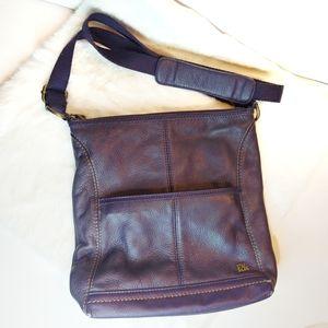 The Sak Purple Pebbled Leather Crossbody